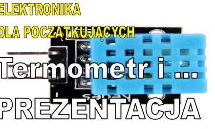 Elektronika … – Moduł z czujnikiem DHT11 temperatury i wilgotności – prezentacja
