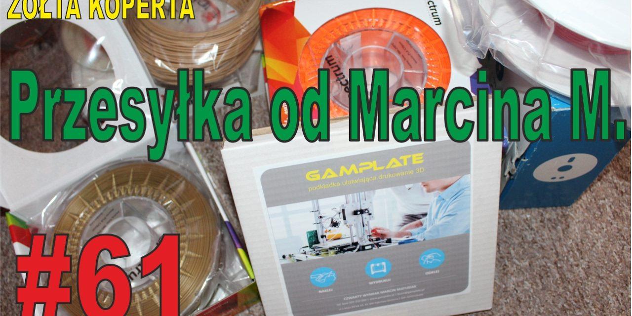 Przesyłka od Marcina z rzeczami związanymi z drukiem 3D – ŻÓŁTA KOPERTA – #61