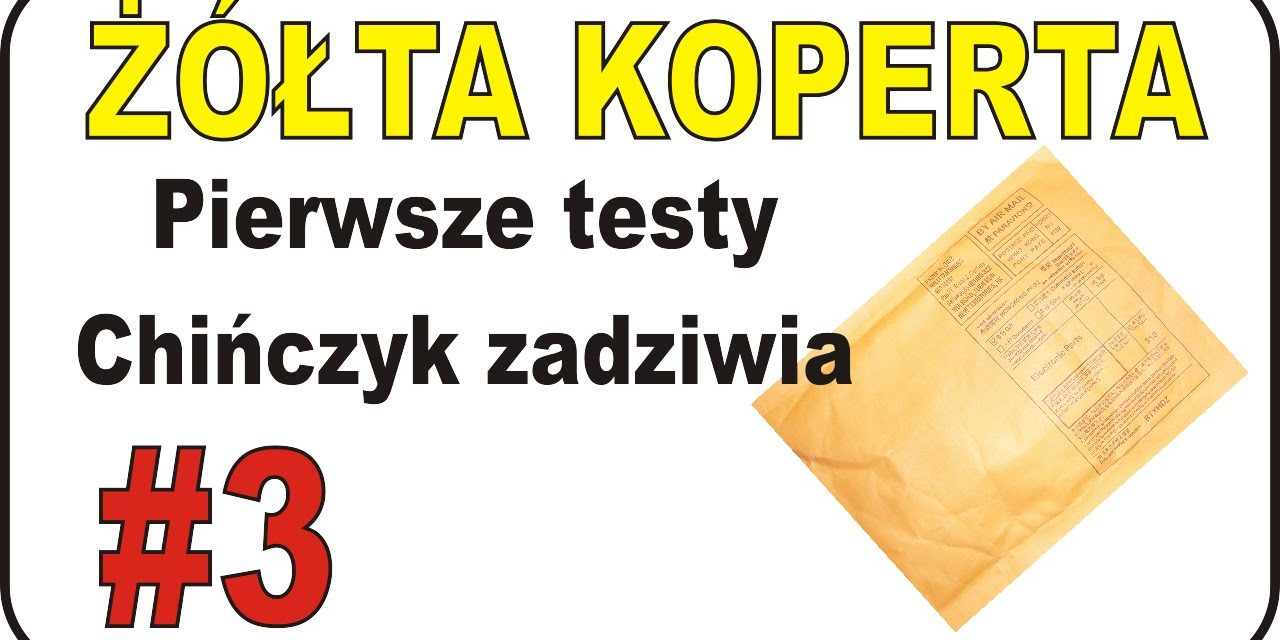 ŻÓŁTA KOPERTA – #3 – 1/3 :) czyli jedna biała i dwie żółte. Testy sterownik silnika i …