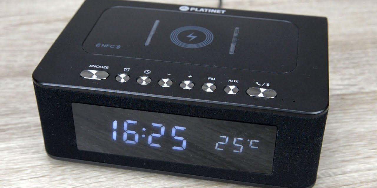Platinet PMGQ10B – Zegarek z głośnikiem Bluetooth, radiem, budzikiem i ładowarką