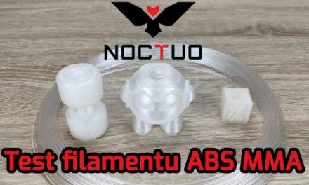 Test filamentu ABS MMA od Noctuo