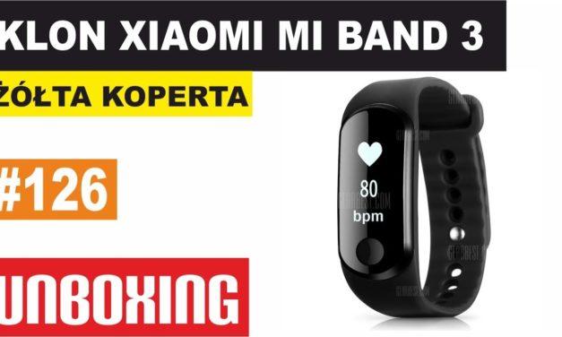 Klon Xiaomi Mi Band 3 – ŻÓŁTA KOPERTA #126