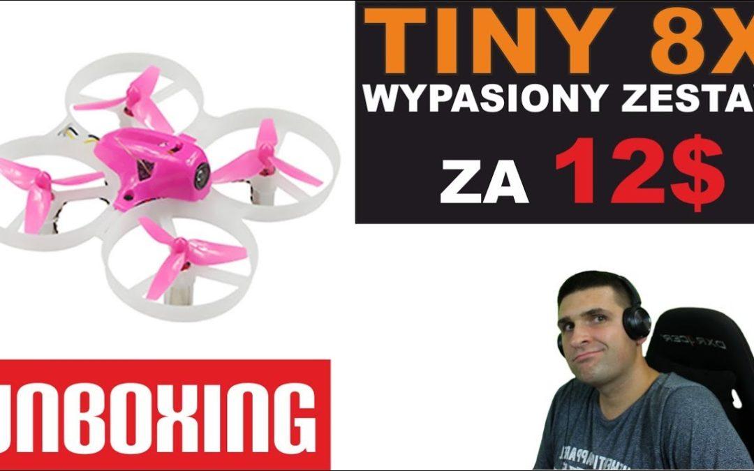 Racing drone FPV kupiłem za 12$ – Tiny 8X Advanced Combo – UNBOXING