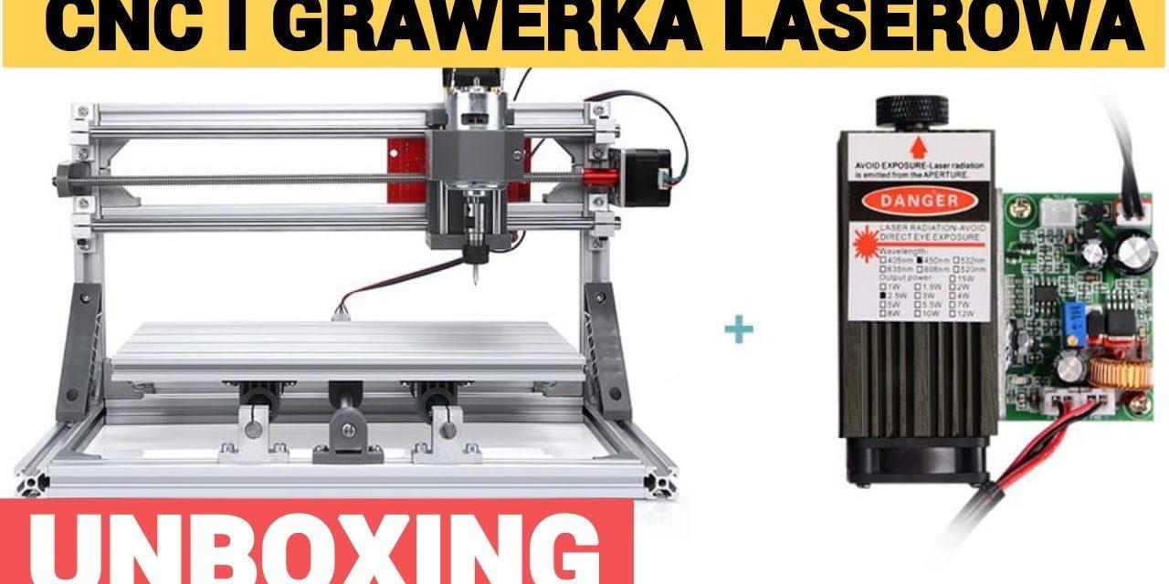 Chińska maszyna CNC i grawer laserowy w jednym – UNBOXING