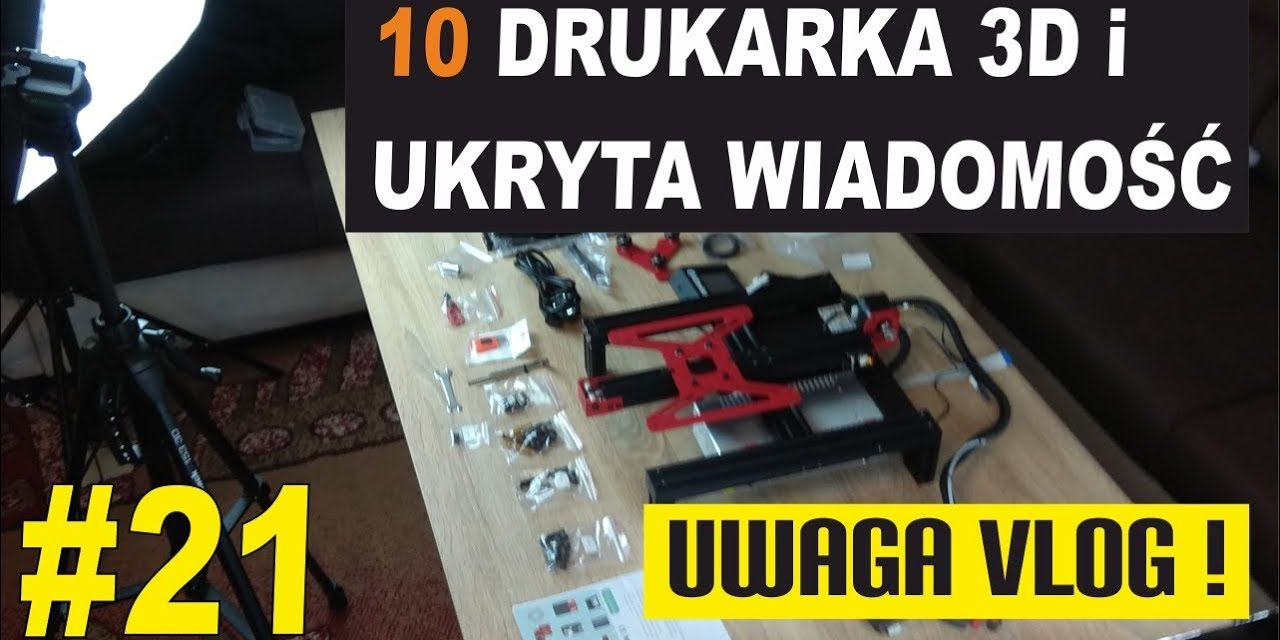 Ukryta wiadomość mikołajkowa :) Alfawise U30 moja 10 drukarka 3D – UWAGA VLOG #21