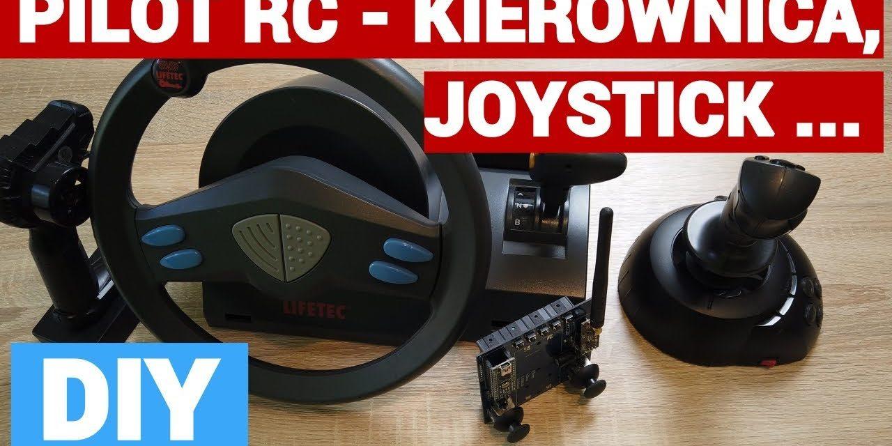DIY Arduino pilot RC – kierownica, joystick, sterowanie bezprzewodowe